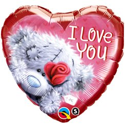 "Teddybär ""I love you"" Folienballon 46cm"