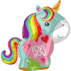 """Love You"" Einhorn Folienballon 53cm"