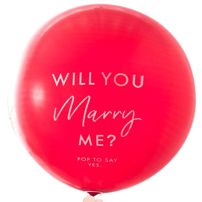 Will You Marry Me Luftballon aus Latex 91cm