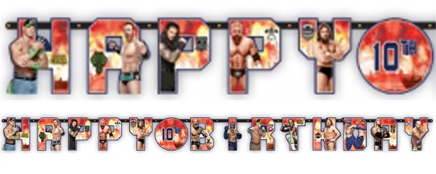 "WWE Wrestling - ""Happy Birthday""-Girlande 3,2m x 30cm"