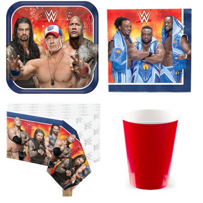 WWE Wrestling - Party-Set - Für 8 Personen