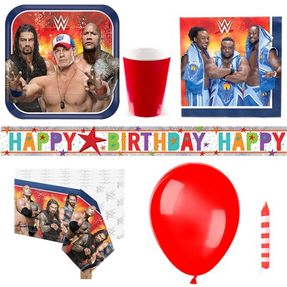 WWE Wrestling - Premium Party-Set - Für 8 Personen