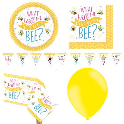 "Kleines Bienchen - ""What Will It Be?"" Premium-Party-Set - Für 8 Personen"