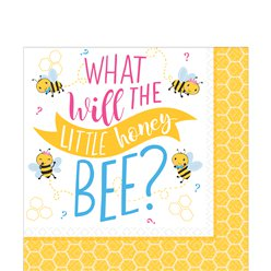 "Kleines Bienchen - ""What Will It Bee?"" Papierservietten 33cm"