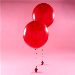 Rote Riesenballons Ballon-Bouquet Set