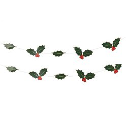 Winterbeeren Folien-Girlande 5m