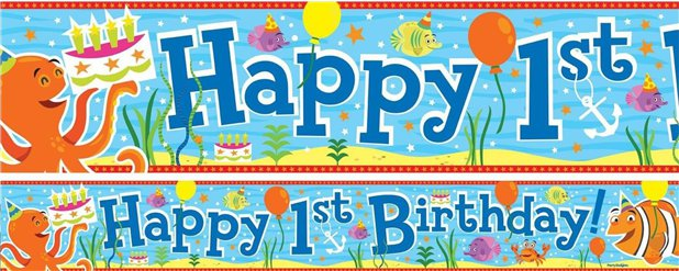 "Kameraden aus dem Ozean - ""Happy Birthday"" Banner-Set"