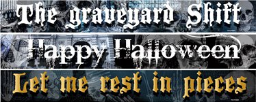 Halloween Papierbanner in versch. Motiven 1m