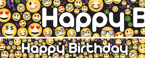 "Emoji - ""Happy Birthday"""