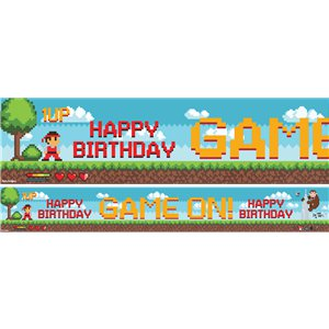 Game On - Papierbanner gemischte Designs à 1m