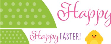 """Happy Easter"" Osterbanner aus Papier 1m"