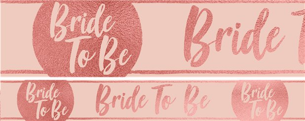 "Team Braut ""Bride to Be"" Papierbanner 1m"