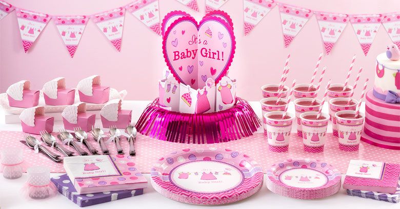 Es ist ein m dchen baby shower party deko partycity de for Baby shower party deko