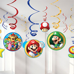 super mario brothers party deko party city. Black Bedroom Furniture Sets. Home Design Ideas
