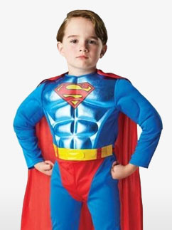 Superman mit metallischer Brust - Kinderkostüm Fancy Dress