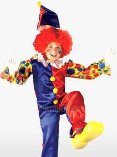Bubbles der Clown,  Kinderkostüm Fancy Dress