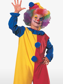 Clownkostüm in Primärfarben - Kinderkostüm Fancy Dress