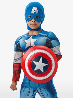 Luxus Captain America - Kinderkostüm Fancy Dress