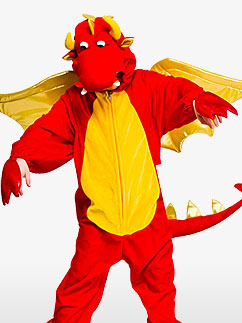 Premium Drache - Kinderkostüm Fancy Dress