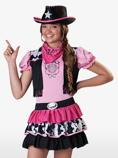 Pinkes Cowgirl - Kinderkostüm Fancy Dress