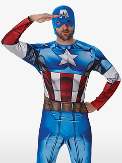 Captain America Classic - Kostüm für Erwachsene Fancy Dress