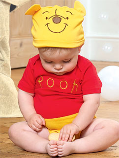 Winnie Puuh Jerseystoff-Set - Babykostüm Fancy Dress
