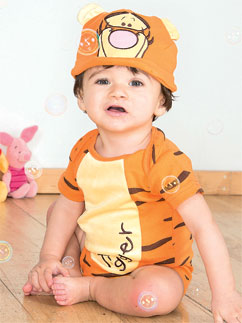 Tigger Jerseystoff-Set - Babykostüm Fancy Dress