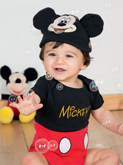 Micky Maus Jerseystoff-Set - Babykostüm Fancy Dress