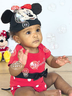 Minnie Maus Jerseystoff-Set - Babykostüm Fancy Dress