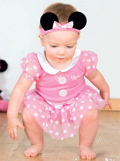 Minnie Maus Pinkes Jerseystoff-Set - Babykostüm Fancy Dress