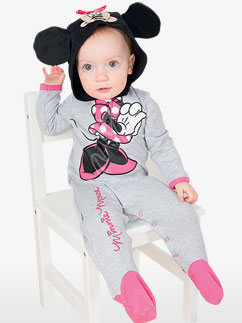 Minnie Maus Strampelanzug aus Jerseystoff - Babykostüm Fancy Dress