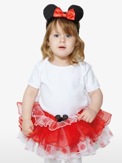 Minnie Maus Tutu & Haarreif Set - Baby- & Kleinkindkostüm Fancy Dress