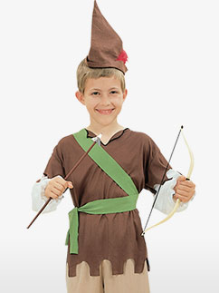 Robin Hood Kostüm für Kinder Fancy Dress