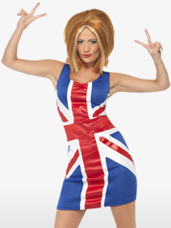 Union Jack Kleid - Erwachsenenkostüm Fancy Dress