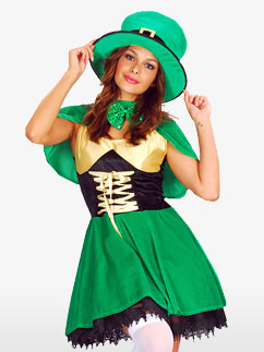 St Patrick's Day Leprechaun - Erwachsenenkostüm Fancy Dress