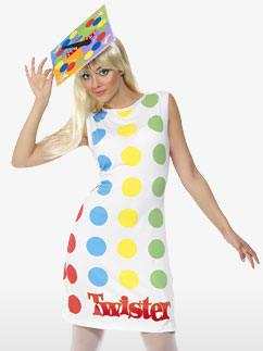Twister Damen Kostüm für Erwachsene Fancy Dress
