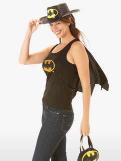Batgirl-Top-Erwachsenenkostüm Fancy Dress