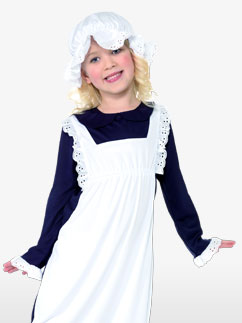 Viktorianisches Hausmädchen - Kinderkostüm Fancy Dress