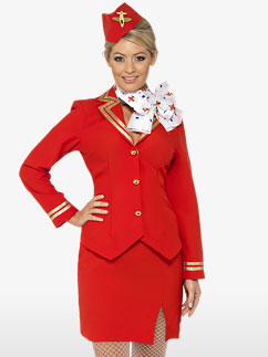 Schicke Stewardess - Erwachsenenkostüm Fancy Dress