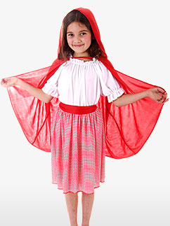Karriertes Rotkäppchen - Kinderkostüm Fancy Dress