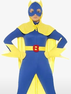 Bananaman, Damen Kostüm für Erwachsene Fancy Dress