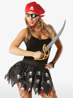 Piratenlady-Set mit Tutu - Erwachsenenkostüm Fancy Dress