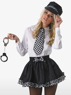 Polizei Tutu Kit Kostüm Fancy Dress