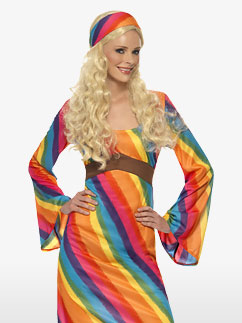 Regenbogen Hippie - Erwachsenenkostüm Fancy Dress