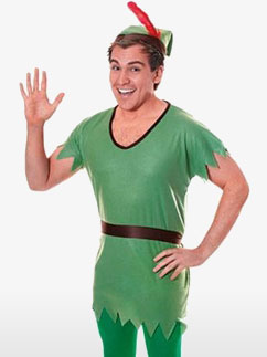 Peter Pan Grüne Tunika Herren - Erwachsenenkostüm Fancy Dress