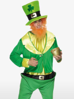 St Patrick's Day Kobold - Erwachsenenkostüm Fancy Dress