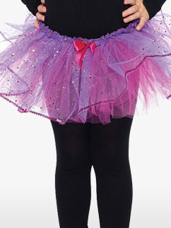 Kinder Tutu - Lila Glitzer & Fuchsia - Kinderkostüm Fancy Dress