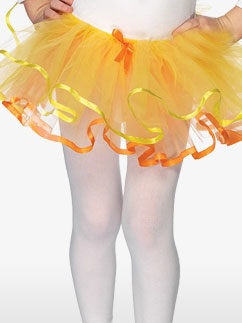 Umkehrbares Kinder-Tutu - Orange & Gelb - Kinderkostüm Fancy Dress