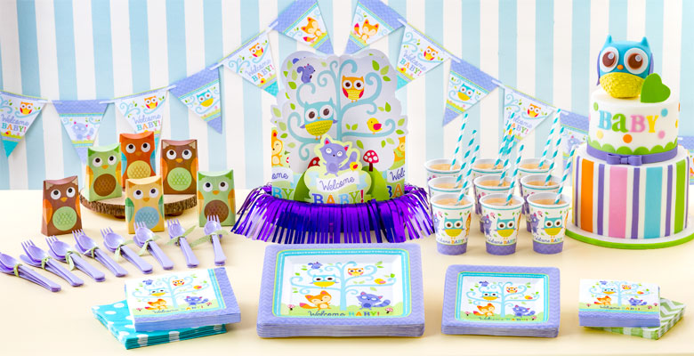 Waldtiere babyparty baby shower deko partycity de for Baby shower party deko