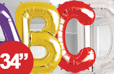 party city letter balloons ballons in zahlen amp buchstabenformen city 23904 | link balloons foil letters link l2
